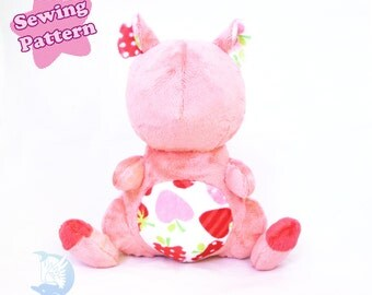 PDF Sewing Pattern Hamster Plush Kawaii DIY
