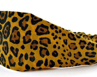 Cheetah headband, Animal print, Cloth headband, Leopard headband, Headbands for women, Hair accessory, Natural hair, Adult woman's headband