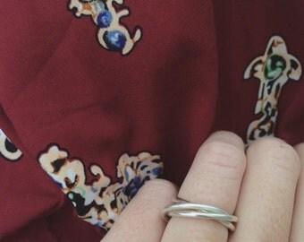 Russian wedding band / three silver rings / wedding ring