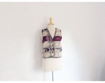 1980s southwestern motif  vest size medium