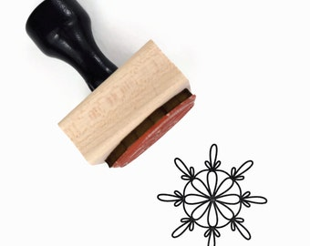"Mandala Pattern 4 Stamp - ""Grow"" Mandala Drawing - Rubber Stamp by Creatiate"