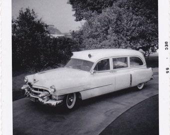 The Old Ambulance- 1950s Vintage Photograph- Emergency Room- Hospital Wagon- EMS Transport Car- Found Photo- Vernacular- Paper Ephemera