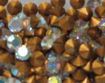Vintage Crystal AB Rhinestones pp18 ss8 Article 1012 2.40-2.50mm QTY - 12