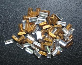 Vintage Swarovski Crystal Baguettes Article 4500 5x2.5mm QTY - 8