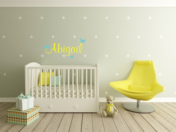 Mini Star decals, Custom Name decals, stars vinyl decals, star stickers, butterfly decals