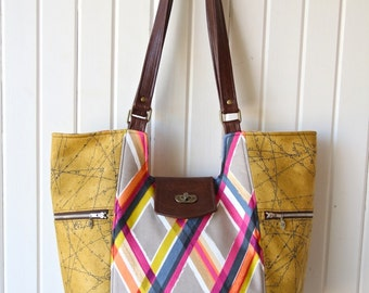 The Mimosa Market Tote- PDF Sewing pattern