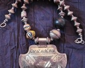 Moroccan Berber Necklace with Colorful Powderglass Beads