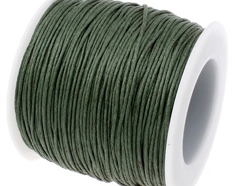 Waxed Cord : 10 yards (30 feet) Forest Green 1mm Waxed Cord String   Bracelet Cord   Macrame Cord   Chinese Knotting Shamballa 003-268