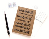 Wanderlust Notebook | Lined Pocket Notebook