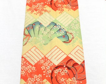Vintage Japanese Obi. Wool Muslin Fabric Lined with Thick Handloomed Cotton. (Ref: 1338)