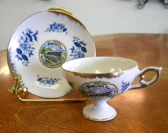 Expo 74 World's Fair Spokane WA - Souvenir Teacup and Saucer Washington State Pavilion