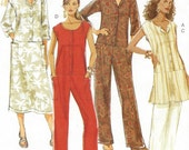 Womens Dropped Waist Tunic, Dress, Pants & Jumpsuit OOP Butterick Sewing Pattern B5229 Size 8 10 12 14 Bust 31 1/2 to 36 UnCut