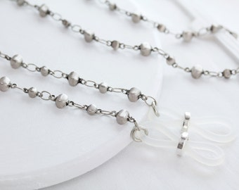 Eyeglass Chain, Eyeglass Chains, Glasses Chain, Silver Eye Glass Chain-Eyeglass Necklace, Lanyard, Silver Eyeglass Holder, Sunglasses Chain