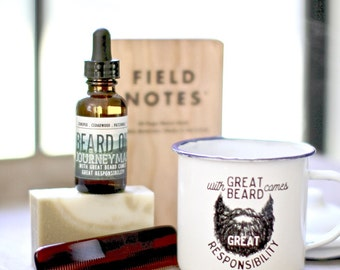Mens grooming kit, funny gift for him, Husband Gift, Groomsman Gift Beer Mug, Dad Gift, Beard Gift, Beard Oil, Beard Care Kit,