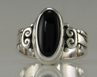 Sterling Silver Black Onyx Ring- One of a Kind
