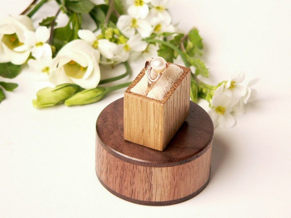 Ring box - engagement gift - unique, elegant, original Woodstorming design - MADE TO ORDER
