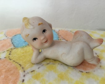 Vintage  Bisque Kewpie Figurine ~ Baby Shower Ideas ~ Baby ~ Cake Toppers
