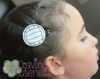 Volleyball Hair Clip, Planner Accessory, Bookmark, Badge Reel - Meet Miss Volley