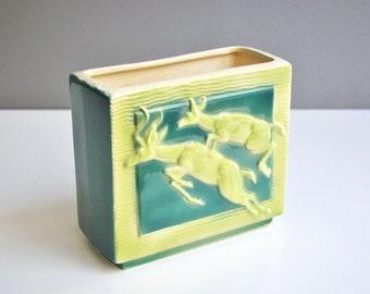 Mid-Century Royal Copley Deer Vase