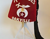 RESERED For Dio Vintage Shriner's Fez Rameses Oakville Masonic Lodge Tassels Pins Fez Box