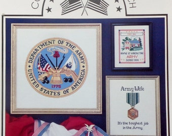 Astor Place United States ARMY Military Counted Cross Stitch Pattern Chart