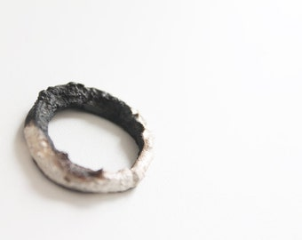 Statement silver ring, Unique silver ring, OOAK silver ring, Sterling silver ring, Raw silver ring,  Organic silver ring, Contemporary ring