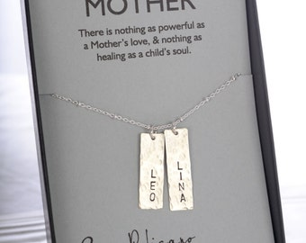 Personalized Jewelry Birthday Gift for Mom Necklace Name Necklace Mom from Son Birthday Necklace Child Name Necklace Birthday Gift