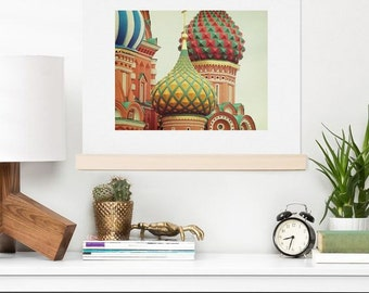 Art Print ~ St Basil's Russian Domes Photo, travel wanderlust dorm decor, housewarming new home gift, unique wedding gift, bon voyage gift