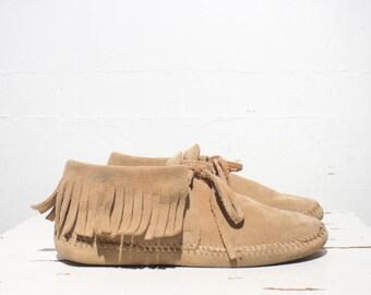 6 | Wrangler Soft Sole Fringe Moccasin Boots