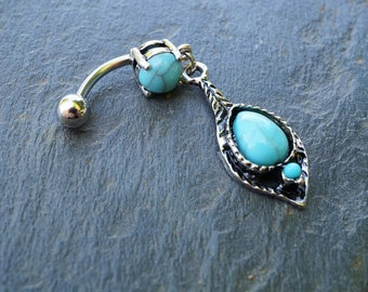 Turquoise Belly Button Rings