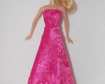 Barbie doll long dress - pink- A4B039