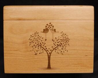 Custom Recipe Box, Personalized Recipe Box, Wood Recipe Box, Engraved Recipe Box, Recipe Cards