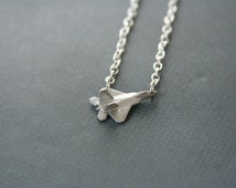 Fighter Jet Necklace F-22 Raptor Necklace - made with a metal pin