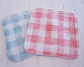 Washcloths/Set of Two/Sommer/Cotton Front/Organic Cotton Sherpa Back