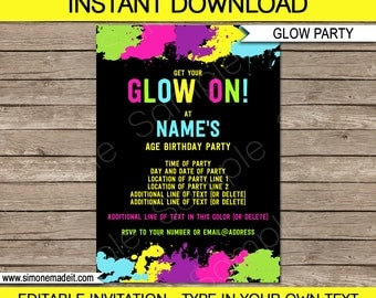 Neon Party Invitation Template Amazing Invitation Template