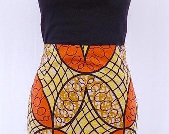 Ankara African Print High Waisted Pencil Skirt