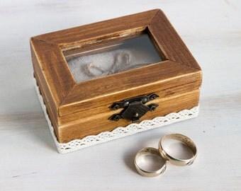 Rustic Ring Bearer Box Wedding Ring Box Personalized Ring Bearer Box Еngagement box Pillow Alternative Wedding Ring Holder Custom Ring Box