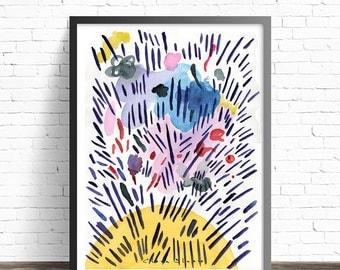Quantum Physics Abstract art prints. Living room wall art. Abstract Print. Contemporary wall art. Modern art print. Abstract wall art