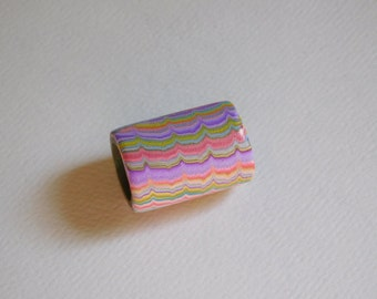 Dread Bead with 13 mm bead hole, large polymer clay bead