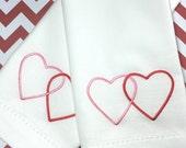 Valentine's Day Heart Napkins, Set of 4, valentine's day napkins, anniversary napkins, valentine's gift, heart cloth napkins, heart linens