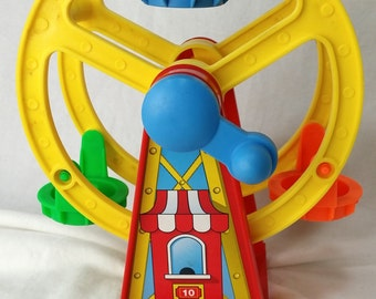 Vintage VTGFerris Wheel FPT5766 Fisher PriceChunky Little People for Fun Park 2560 FP *eb