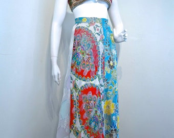 Vintage 1970s Gypsy Bohemian Rich Hippie Maxi Skirt by 'Get Off My Back' Boutique Label // Sheer Floaty Boho Vibe