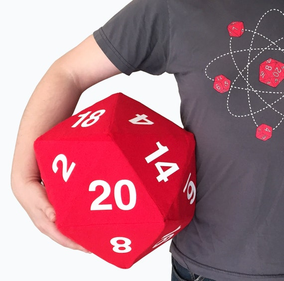 Custom Wedding Game Giant 12 In Plush D20 Dice Dnd Dungeon