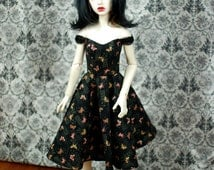 SD13 Black Butterfly Dress For BJD - Last One