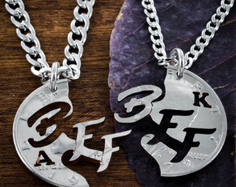 BFF Initials Best Friends Forever Necklaces