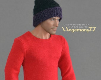1/6th scale hand knit hat