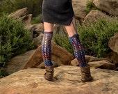 Moon's Eye Corset Leg Warmers. Merino Wool. Thigh Highs. Crochet Knee Socks. Leg Warmers. Tights. Wool Socks. Fashion Socks. Boot Toppers