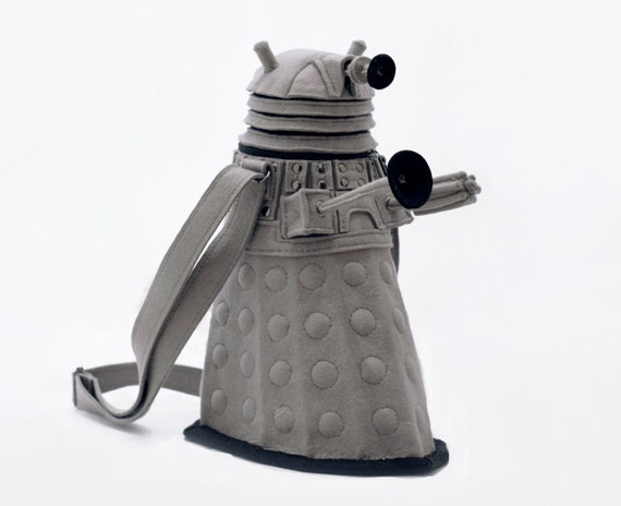 Dalek bag Doctor Who Grey Felt Bag Geekery