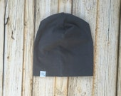 Slate Grey Slouch Beanie/ Baby- Adult sizes/ Hipster Beanie/ Slouchy beanie/ Toque / Baby Slouch Beanie /Baby Hat/ Beanies