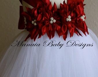 Christmas Dress / Christmas Tutu Dress / Holiday Tutu Dress/ Brick Red Dress WITH SLIP ATTACHED!!